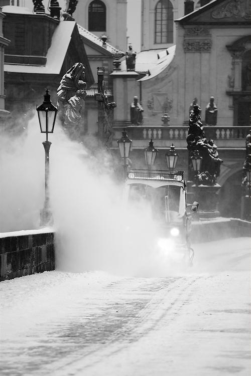 Karlův most - sníh