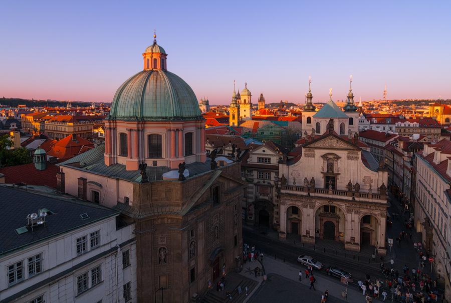 Kopule kostelu sv. Františka