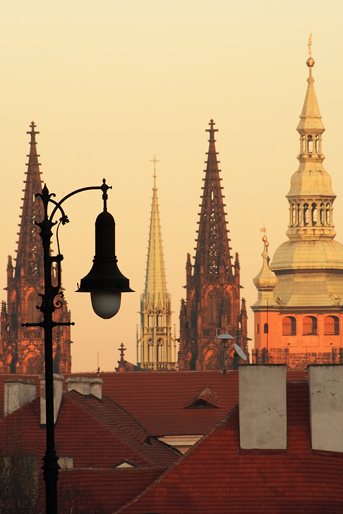 Lampa u Pražského hradu