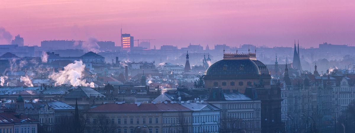Národní divadlo - zimní ráno