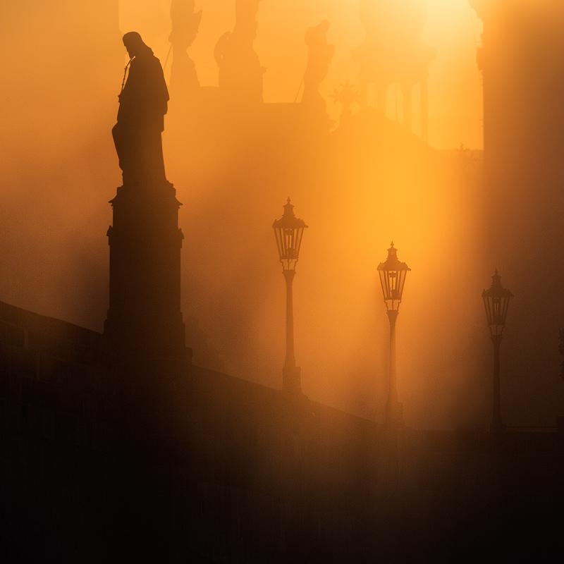 Osvícení na Karlově mostě