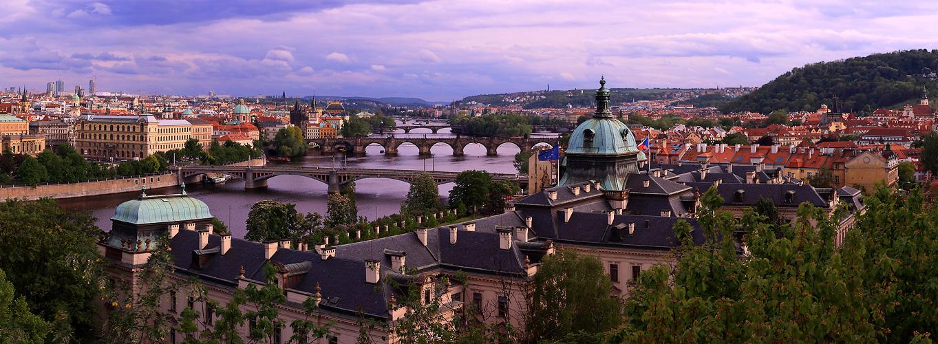 Panoráma pražských mostů