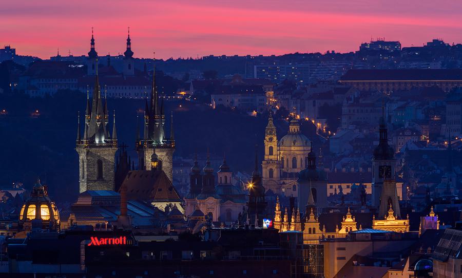 Pražské věže z Vítkova