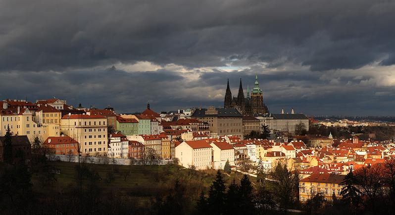 Pražský hrad - bouře