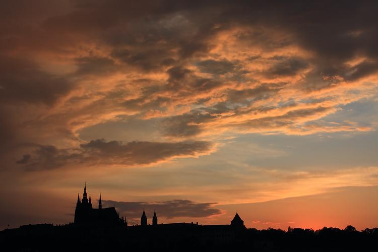 Pražský hrad - mraky