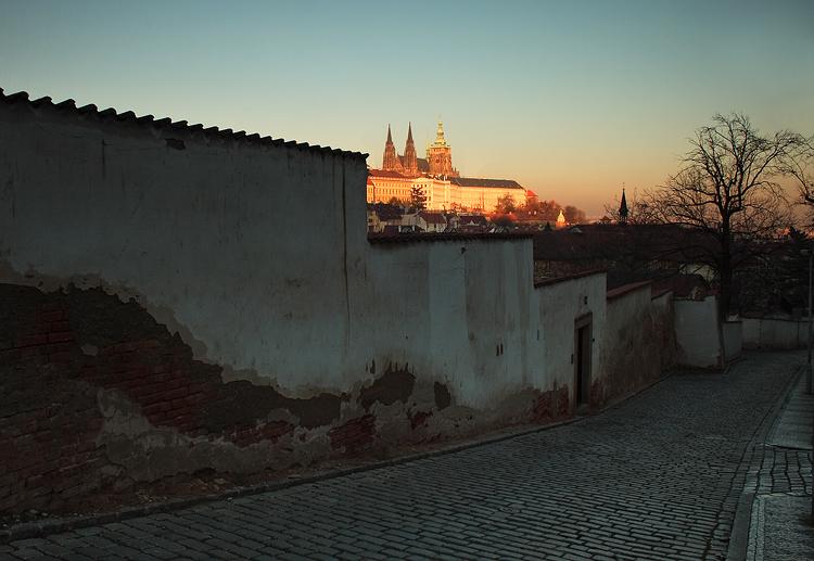 Osvětlený Pražský hrad