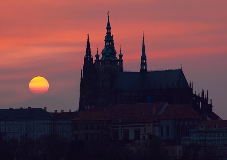 Pražský hrad - slunce