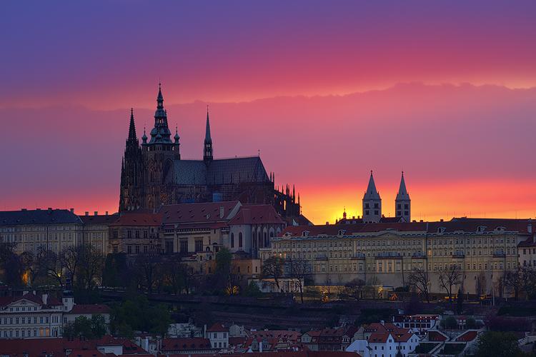 Pražský hrad - vulkanický západ