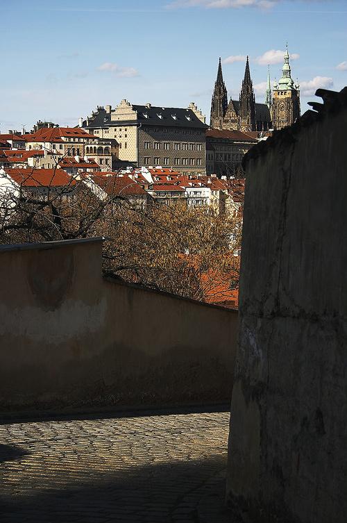 Pražský hrad z Petřína