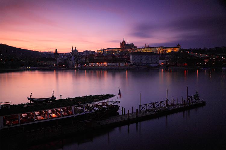 Pražský hrad - západ slunce