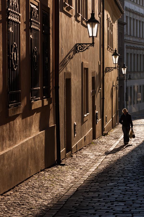 Prosvětlená Břetislavova ulice