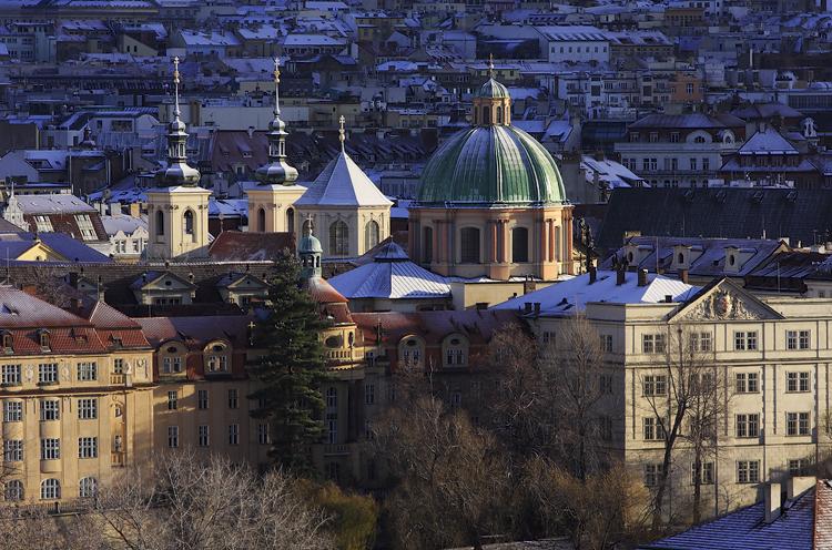 Pražský sněhový poprašek
