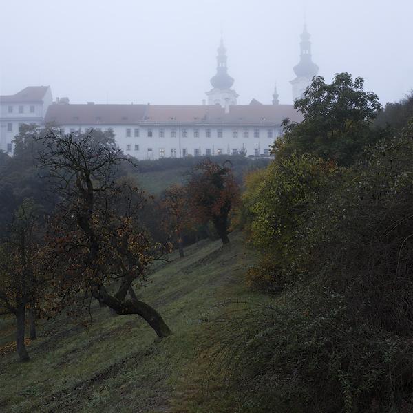 Strahovský klášter - mlha